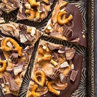 Chocolate Peanut Butter Pretzel Bark