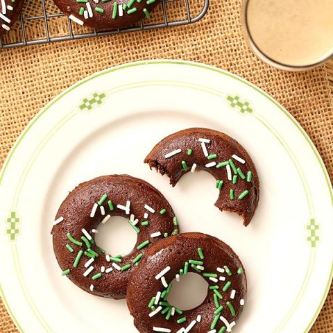 Small Batch Chocolate Stout Baked Doughnuts