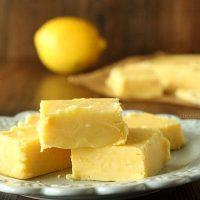 Small Batch Creamy Lemon Fudge