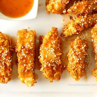 Crispy Baked General Tso's Sweet Chili Chicken Strips