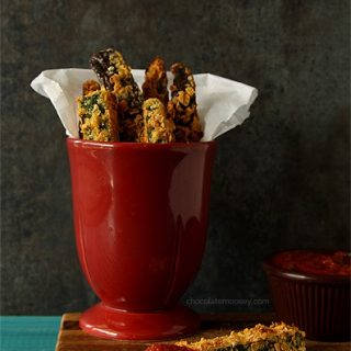 Crispy Baked Ratatouille (Zucchini and Eggplant) Fries With Spicy Tomato Dipping Sauce