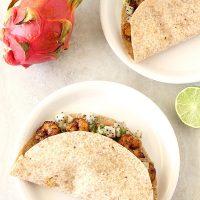 Fajita-Spiced Shrimp Tacos With Dragon Fruit Salsa
