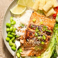 Ginger Garlic Marinated Salmon
