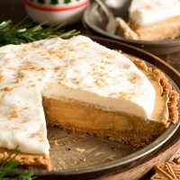 No Bake Gingerbread Cream Pie