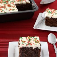 Gingerbread Texas Sheet Cake with Lemon Frosting