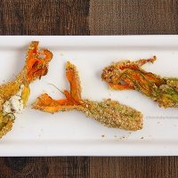 Goat Cheese-Stuffed Squash Blossoms