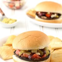 Greek Portobello Mushroom Burgers