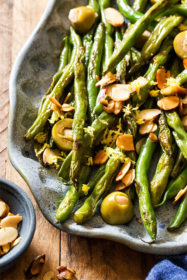 Green Beans with Olives and Almonds