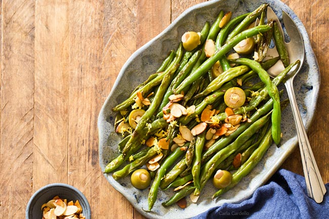 Green Beans with Almonds and Olives