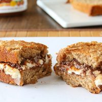 Grilled Nutella Cheesecake Sandwich