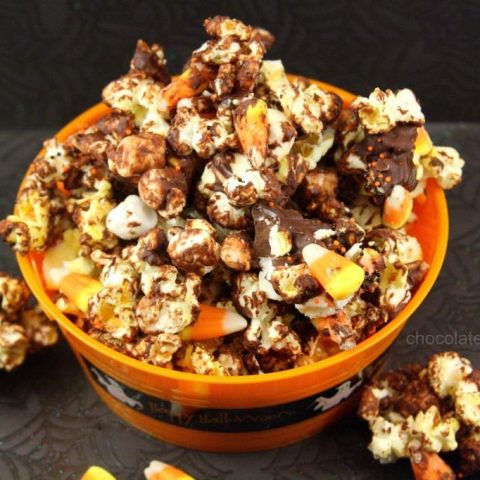 Halloween Candy Corn Chocolate Popcorn
