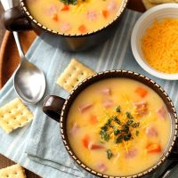 Ham and Cheese Soup For Two