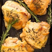 Honey Mustard Chicken Thighs (Dinner For Two)