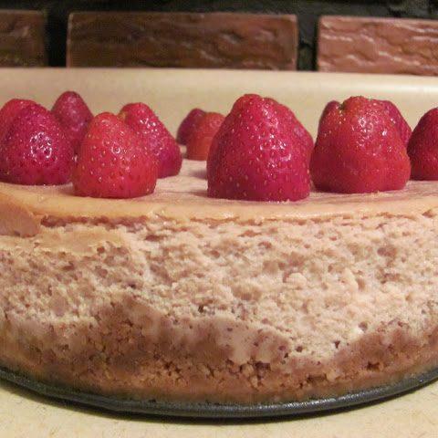 Strawberry and White Chocolate Chip Cheesecake