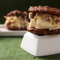 German Chocolate Ice Cream Sandwich Cookies