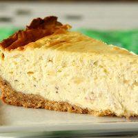 Irish Cheese and Bacon Cheesecake with Walnut Crust