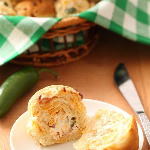 Jalapeño Popper Stuffed Dinner Rolls