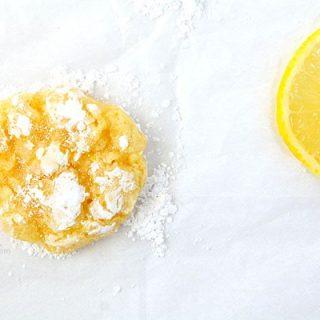 Lemon Coconut Crinkle Cookies