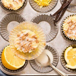 Lemon Vanilla Crumb Muffins (Small Batch)