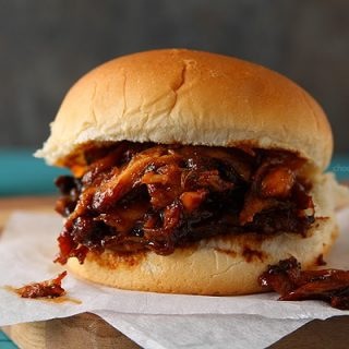 Slow Cooker Maple BBQ Pulled Chicken Sandwiches