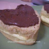 Mini Boston Cream Pie Sponge Cakes