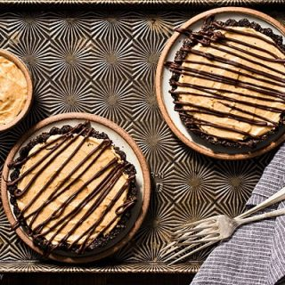 No Bake Mini Peanut Butter Mousse Tarts For Two