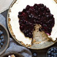No Bake Blueberry Cheesecake Pie