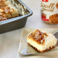 No-Bake Egg-Free Biscoff Swirl Cheesecake