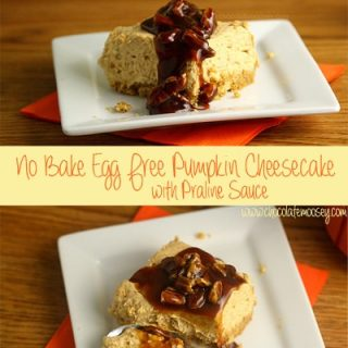 Eggless No Bake Pumpkin Cheesecake Bars