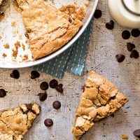 Oatmeal Chocolate Chip Cookie Wedges