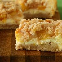 Peach Cheesecake Crumb Bars