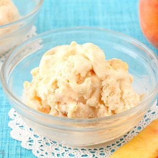 Peaches And Cream Ice Cream (No Cook, Egg Free)