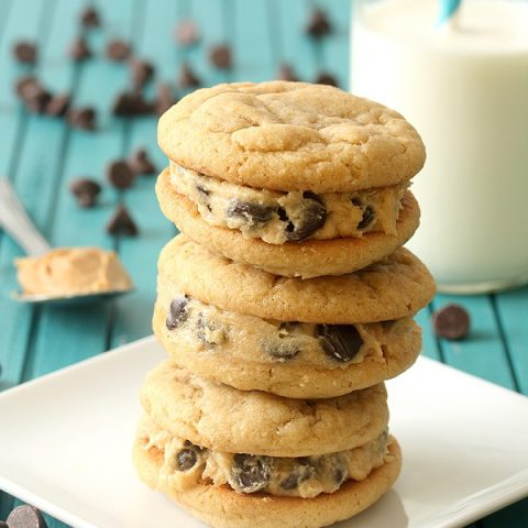 Peanut Butter Cookie Dough Sandwich Cookies