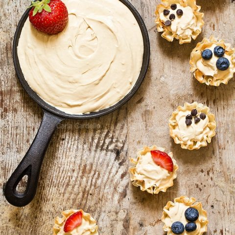 Peanut Butter Fruit Dip Phyllo Cups