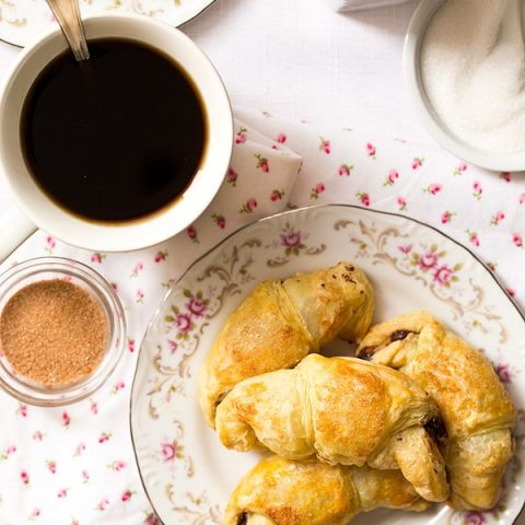 Puff Pastry Chocolate Croissants (Small Batch)