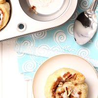 Small Batch Puff Pastry Cinnamon Rolls