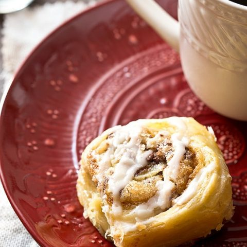 Puff Pastry Cookie Dough Cinnamon Rolls (Small Batch)