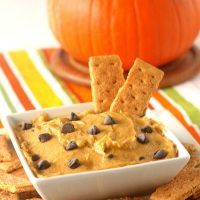 Pumpkin Chocolate Chip Cookie Dough Dip