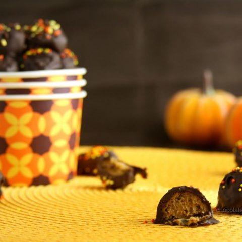 Pumpkin Gingersnap Truffles