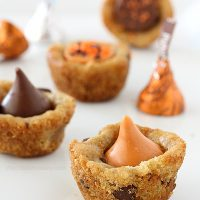 Pumpkin Spice Kiss Cookie Cups