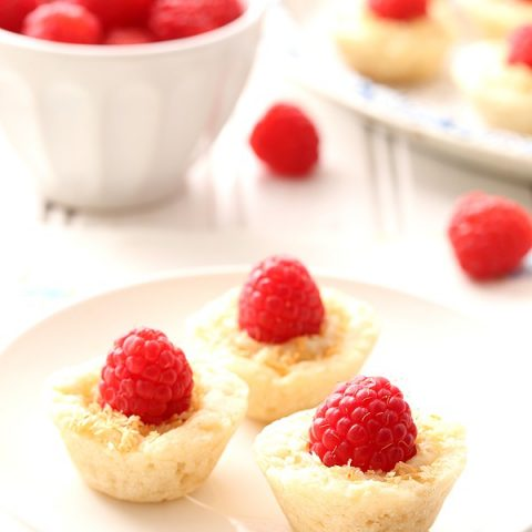 Raspberry Coconut Mini Pies