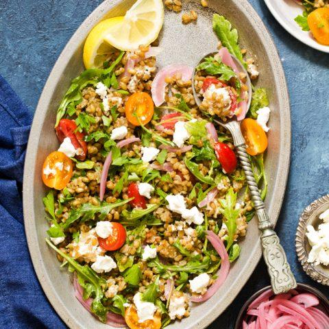 Really Good Freekeh Salad