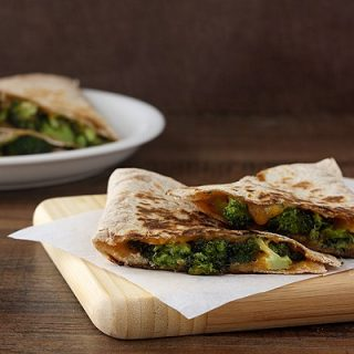 Roasted Broccoli and Cheese Quesadillas #WeekdaySupper