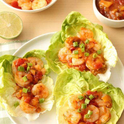 Salsa Shrimp Lettuce Wraps