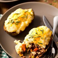 Shepherd's Pie Twice Baked Potatoes