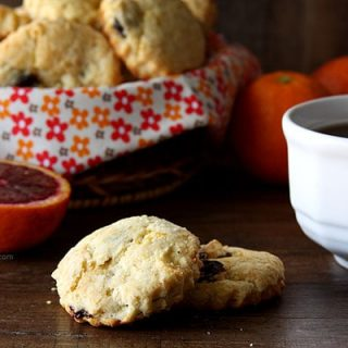 Simple Dried Cherry and Orange Scones