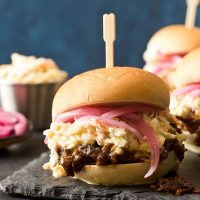 Slow Cooker Shredded Beef Sliders