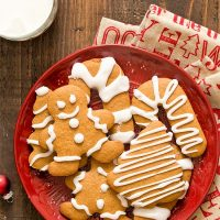 Small Batch Gingerbread Cookies with Eggless Royal Icing