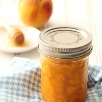 Small Batch Peach Honey Jam Without Pectin