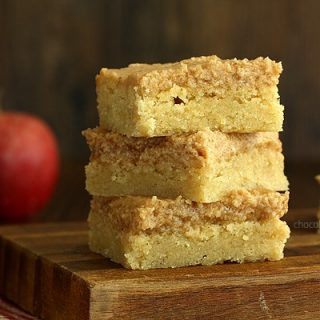 Snickerdoodle Cookie Bars with Apple Butter Frosting